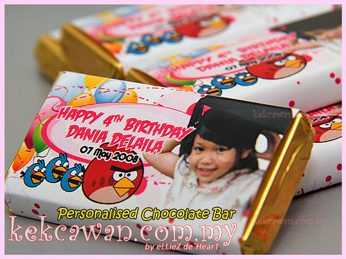 Personalised Choc Bar - Angry Bird Theme