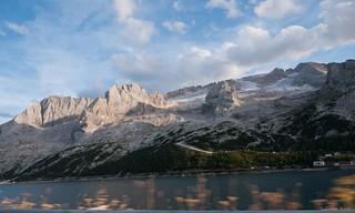 ドロマイト山脈上の氷河