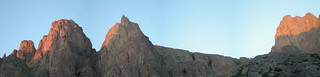 Turret and Pigeon Peaks Panorama