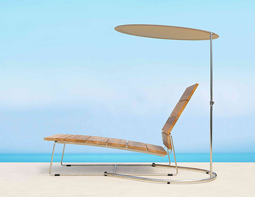 outdoor lounge chair with metal frame