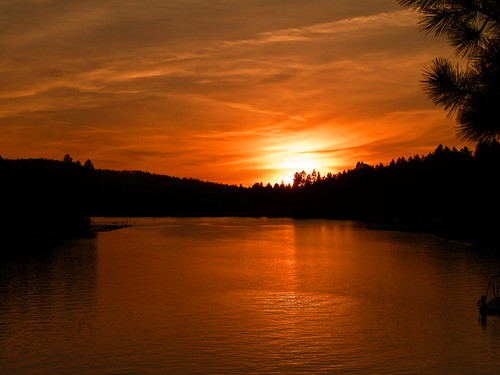 sunset orange sun reflection water reflections river photography photo spokane photographer post northwest photos smoke falls idaho photograph northern inland amateur junglejims