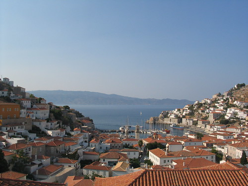 View from our living room window, Hydra.