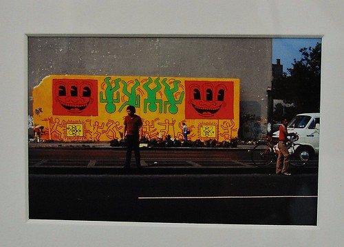 Haring's Bowery/Houston Mural 1982 Photo by Tseng Kwong Chi