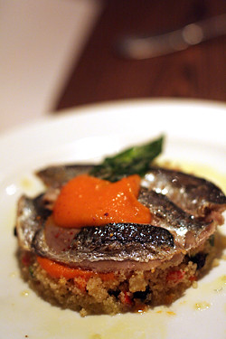 sardines and semoule philou