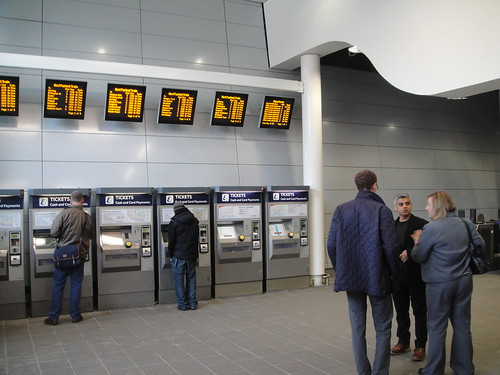 The new ticket hall, Earlsfield Station