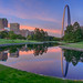 The Gateway Arch at sunset