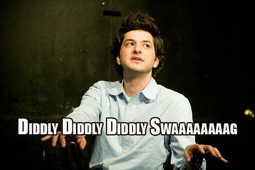 Jean Ralphio and the words diddly diddly diddly swaaaag under him