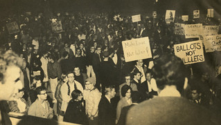 Students protesting against the Vietnam War in 1965.