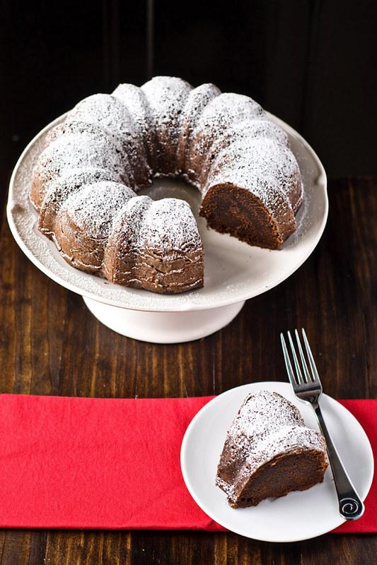 Boozy Chocolate Bundt Cake