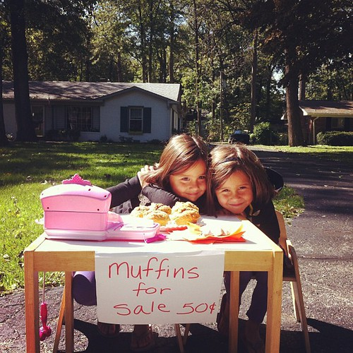 Muffins for sale. Muffins for sale. Melt my heart.