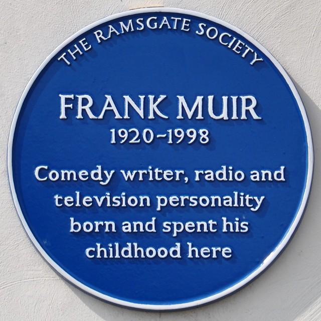 Photo of Frank Muir blue plaque