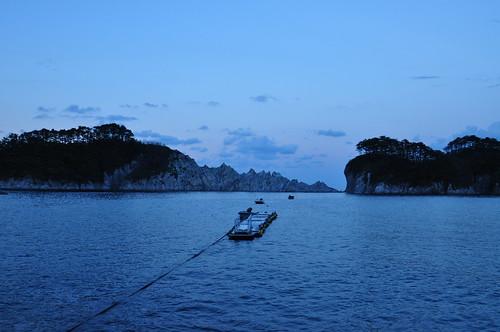 夕暮れの浄土ヶ浜2
