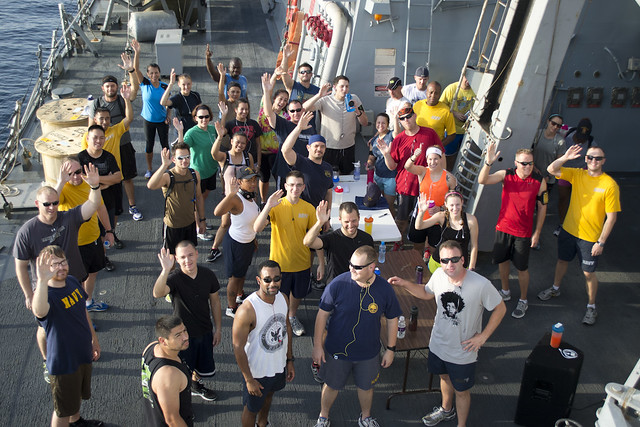 Benfold Sailors Support Wounded Warrior Project