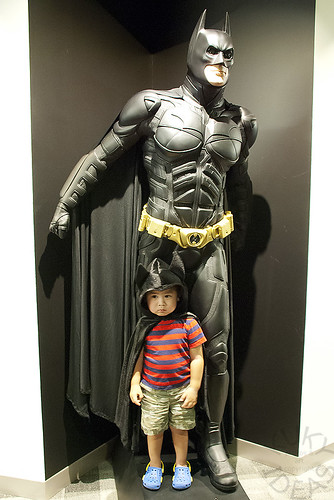 Batman and Mini Batman