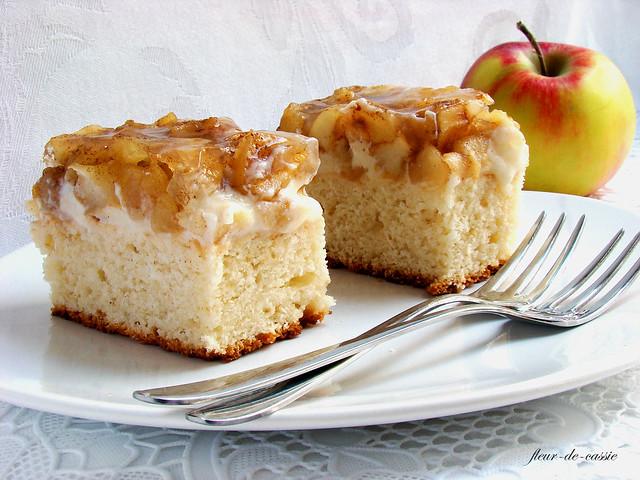 яблочные пирожные с корицей 2