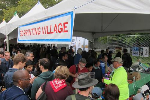 World Maker Faire NYC 2012 - 3D Printer Village