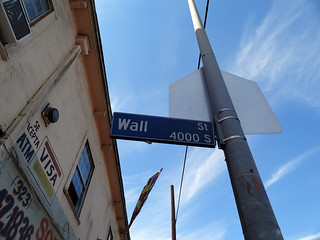 Wall Street at E Martin Luther King Jr Blvd, Los Angeles, Los Angeles