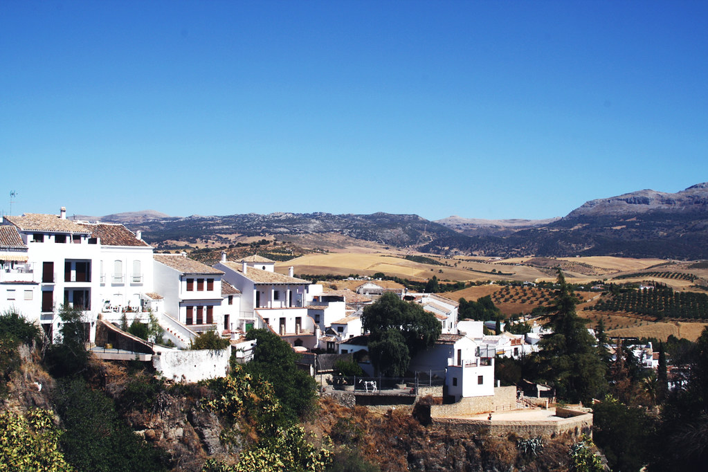 ronda white washed houses
