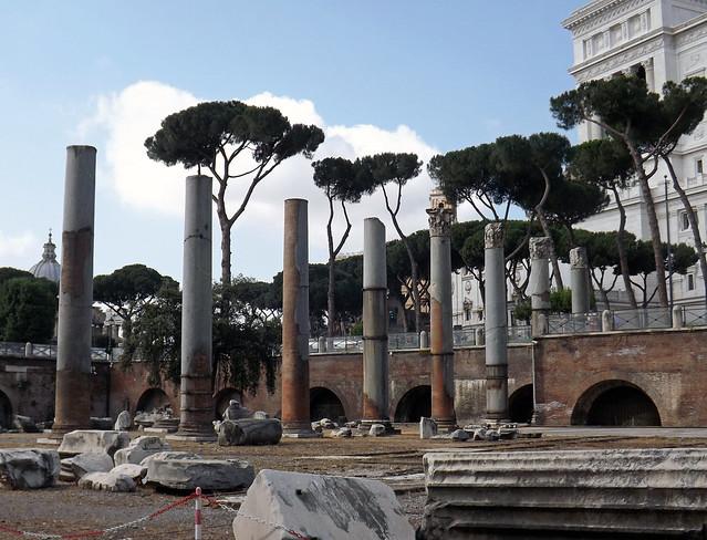 The Basilica Ulpia in Rome, July 2012