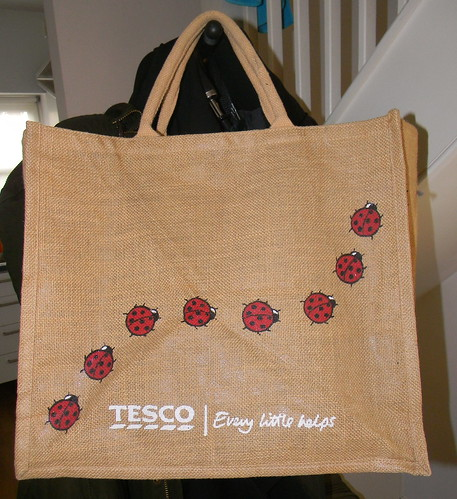Tesco hessian Bag for life  2nd October 2012 14:37.44pm