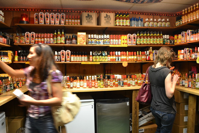 Hot sauce shopping