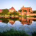 Malbork Castle at sunset (redux)