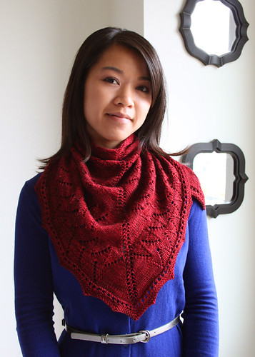 LaReine Shawl in Malabrigo Yarn Sock