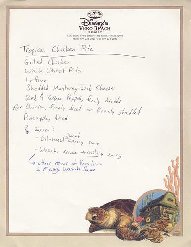 Tropical Chicken Pita, Ingredients?