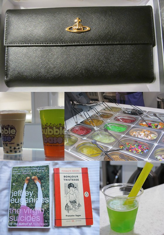 bubble tea, vivienne westwood purse