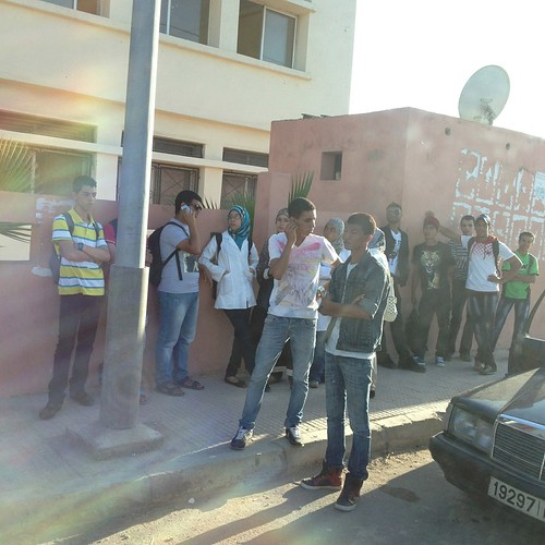 Students Outside Casablanca, Morocco (School #3)