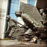 Warsaw Ghetto uprising heroes monument