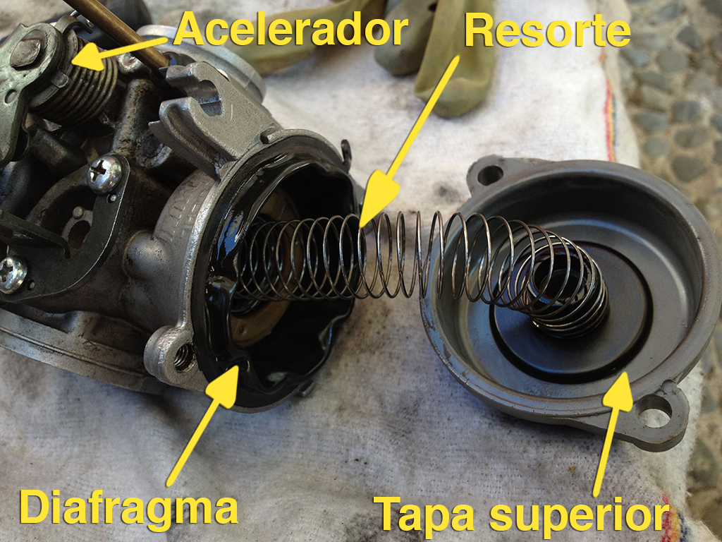 Como limpiar el carburador de motocicleta Bajaj Pulsar UG3