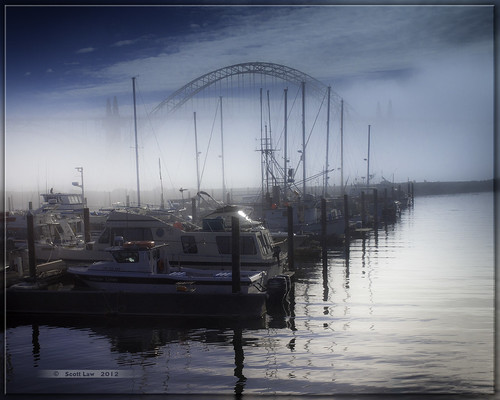 Foggy Yaquina Bay Bridge by Just Used Pixels