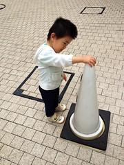 朝散歩 - コーン (2012/10/9)
