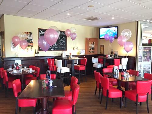Tafeldecoratie 3ballonnen Citta Romana Hellevoetsluis