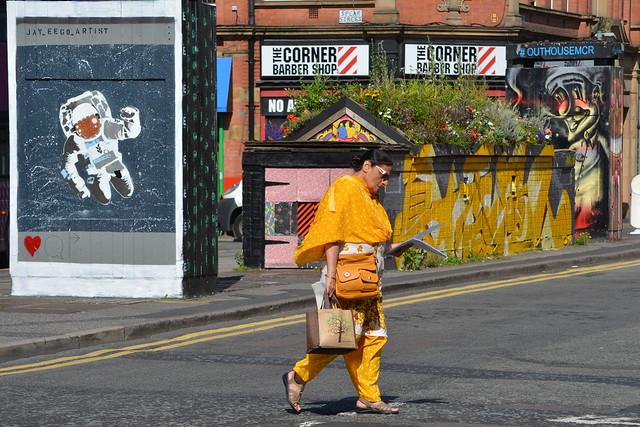 Colourful, Stevenson Square, Northern Quarter, Manchester, England.