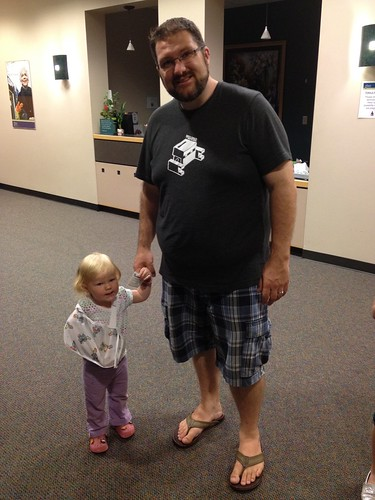 Brave Hadley and Daddy