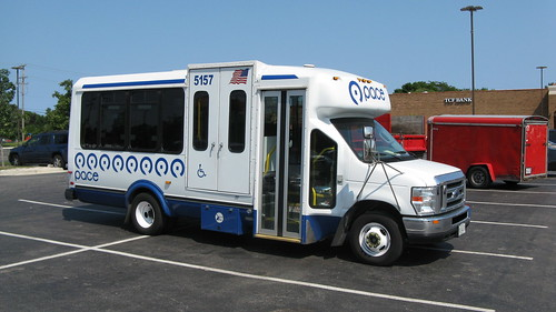First Transit 2008 Ford paratransit bus # 5157.  Glenview Illinois.  Late August 2012. by Eddie from Chicago