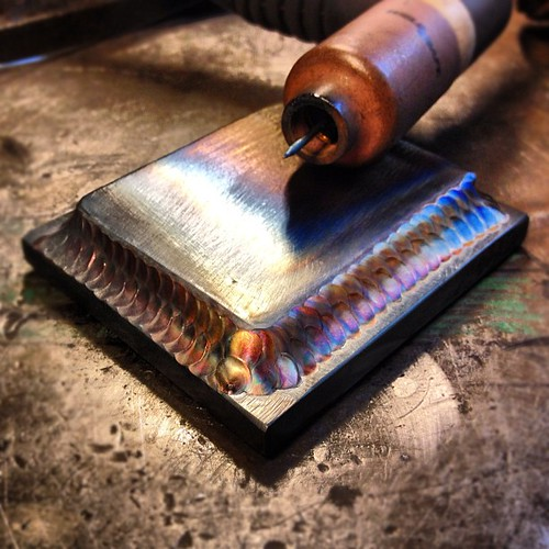 Stainless filler on mild steel. Messing around.