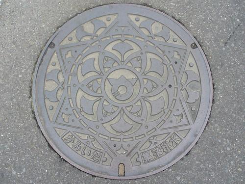 Kamiita Tokushima manhole cover (徳島県上板町のマンホール)