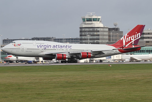 Virgin Atlantic G-VLIP arriving at Manchester