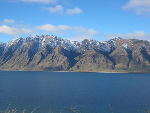 newzealand panorama mountain lake snow outdoor otago hawea