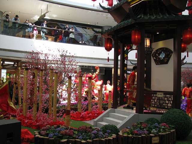 cny mall decoration hongkong.