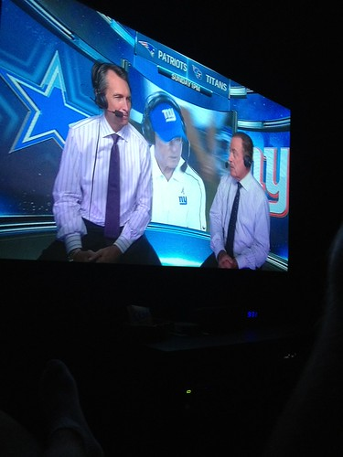 8:36pm watching the cowboys game with Dad, uncle, and ain't in Dallas by marshallhaas