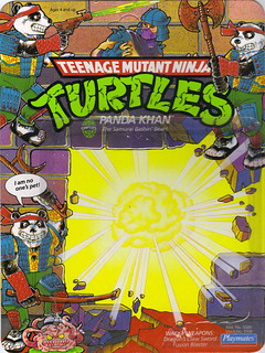 TEENAGE MUTANT NINJA TURTLES :: PANDA KHAN ..card backer i (( 1990 ))