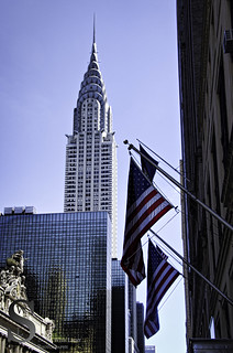 NYC Chrysler and Flags-