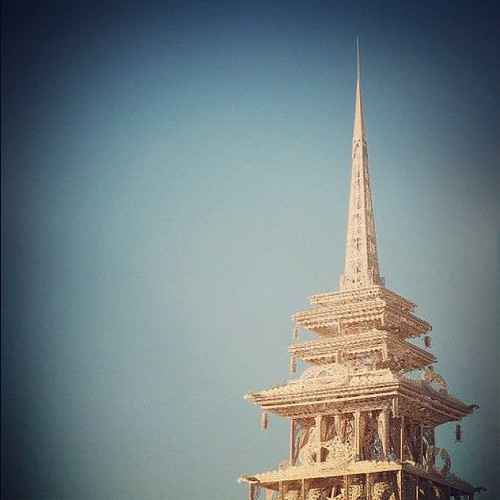 Tip of the temple #burningman2012 #latergram