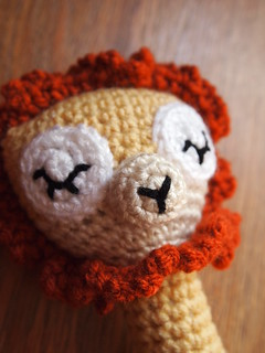 Sleepy Lion Baby Rattle