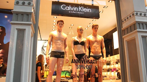 The store window at Calvin Klein