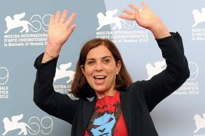 Francesca Comencini, exuberante para os fotógrafos